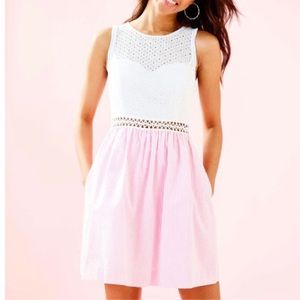 Lilly Pulitzer Alivia Pink Seersucker Dress 6